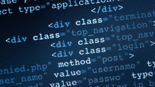 Photo of HTML code