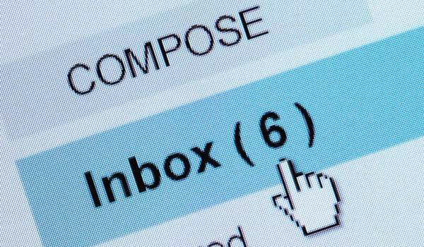 Photo of an email inbox