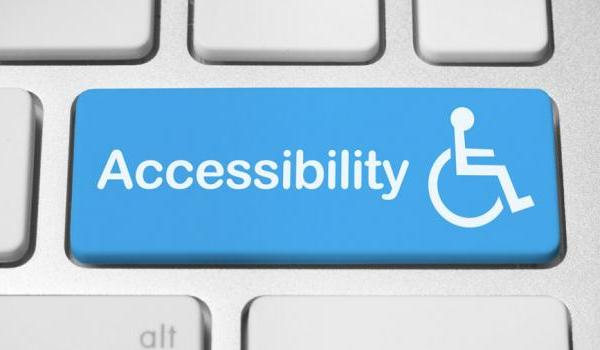 Photo of keyboard with accessibility key on
